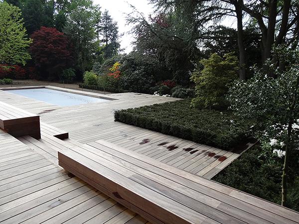 Entreprise De Jardin à Waterloo Piscine Terrasse En Bois
